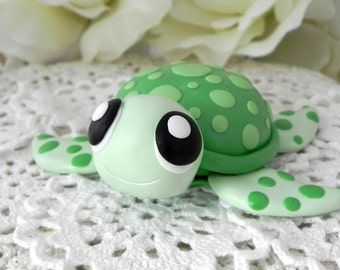 Turtle Cake Topper, Birthday or Baby Shower, Keepsake, Nursery Decor