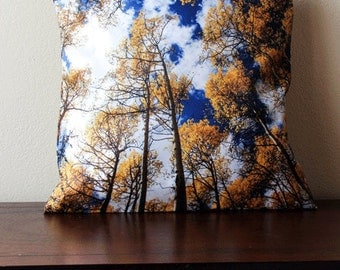 Aspen Leaf Pillow Cover Aspen Trees Pillow Cover Home Decor Autumn Home Decor