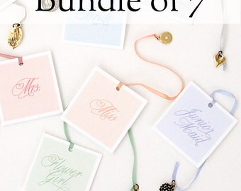 Mother of the Bride and Groom, Bridesmaids, and Flower Girl Gift - Bundle of 7 Cake Charms