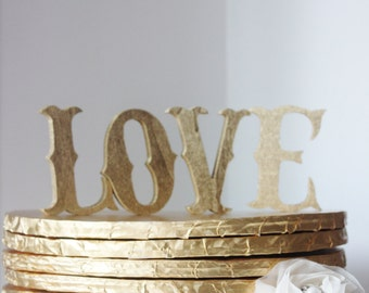 LOVE Gold Marquee Letter Style Cake Topper Custom Wedding Circus Carnival Retro Vintage Hollywood Shower Signage Love Letters Sign Fair