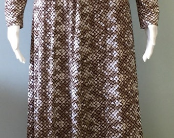 Vintage 1970s Italian Snakeskin Maxi Dress by Eva for Robert Janan Size 10