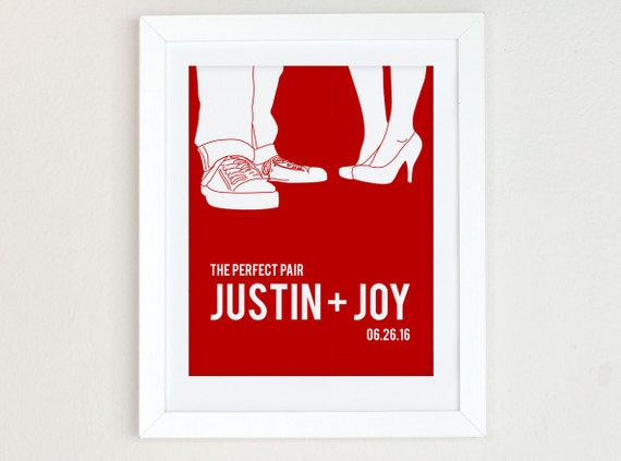 Personalized Couples Portrait, Couples Silhouette, Wedding Gift for couple, red home decor, gift for boyfriend