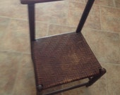 SaLe VINTAGE CHILDS CHAIR Woven Wood