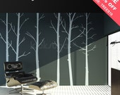 Tree Wall Decal - SALE 10% Off!!! - Nature Wall Decal . Winter Tree Decal . Tree Wall sticker . Forest Wall Decal - LSWD-0031