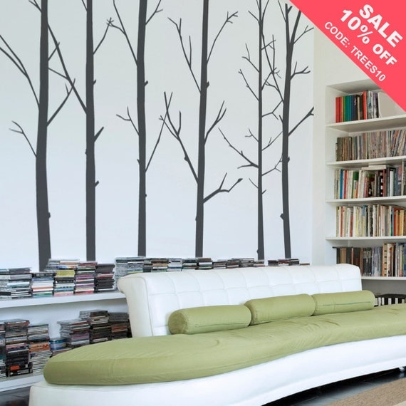 Tree Decal - Winter Tree Wall Decal- Forest Wall Decal - Tree Wall Mural - Nature Wall Decal - LSWD-0031