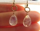 Moonstone 14K Gold Filled Earrings, Drop Earrings, Wire Wrapped Jewelry, Gemstone Jewelry