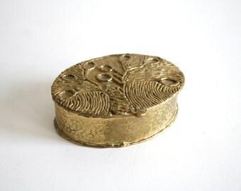 Brutalist Brass Jewelry Box