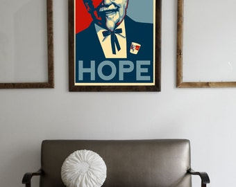 """Colonel Sanders for President print 8"""" x 10"""""""