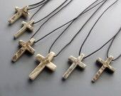 Moose Antler Cross Pendants