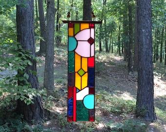 Lovely Stained Glass Panel Glass Art home and living suncatcher gift art glass