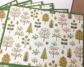 Tree Cards, Forest Cards, Tree Notecards, Tree Notes, Tree Stationery, Forest Notes, Forest Stationery, Forest Notecards, Green Cards