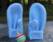 Fleece Wrap Mittens - Blue - Fleece Mittens