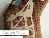 Huggable Shipping Crane One-of-a-Kind Custom Pillow