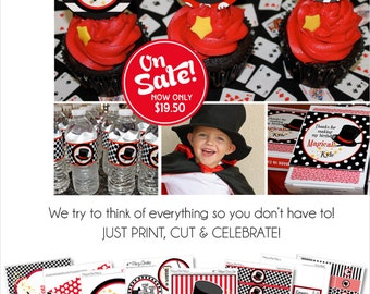 Magic Party Birthday | Magic Birthday Printable | Magician Party | Magician Birthday | Magic Party Decorations | Amanda's Parties To Go