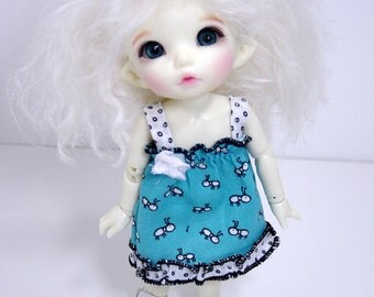 PKF/PukiFee/Lati Yellow Turquoise Ant Print Sun Dress