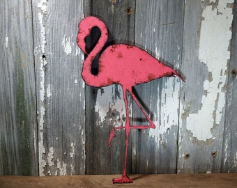 Flamingo sign flamingo decor Rustic Shabby Chic Wooden Wall Decor Home Decor  Primitive Cottage Farmhouse Sign Vintage antique Wood