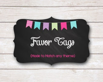 Favor Tags. Made to Match. Party Printable