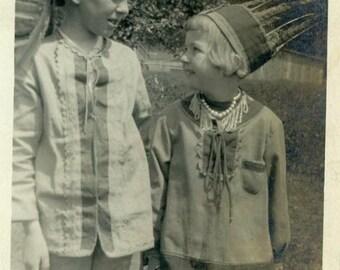 "Vintage Photo ""Native Imaginations"" Indian Costume Snapshot Photo Old Antique Photo Black & White Photograph Paper Ephemera Vernacular - 49"