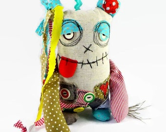 Ooak Monster Doll, Plush Monster, Quirky Gifts