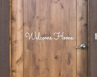Hello Vinyl Door Decal Hello Front Door Decals Hello Home - Custom vinyl decals for wood