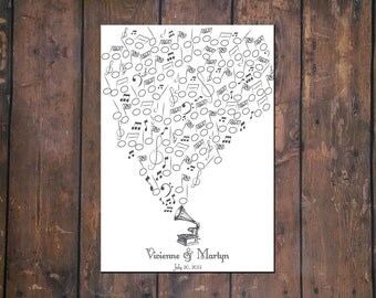 Thumbprint Musical Guestbook PDF