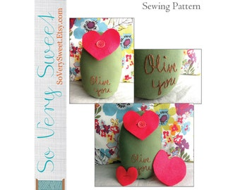 DIGITAL Sewing Pattern: Olive You--Small Plush Olive Sewing Pattern--Instant PDF Download