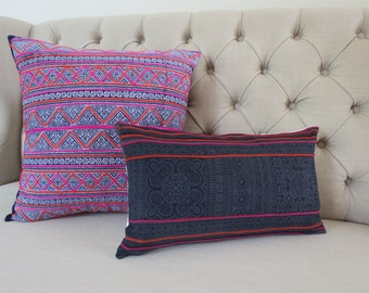 Vintage batik Hmong cushion cover, Cotton Fabric,Throw Pillow,Decorative Pillows