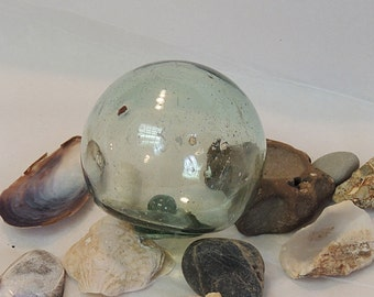 Vintage Japanese Glass Fishing Float.. Small 2.5 Inch.. embedded Foreign Matter (#36)