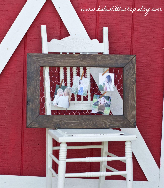 handmade chicken wire picture frame holder