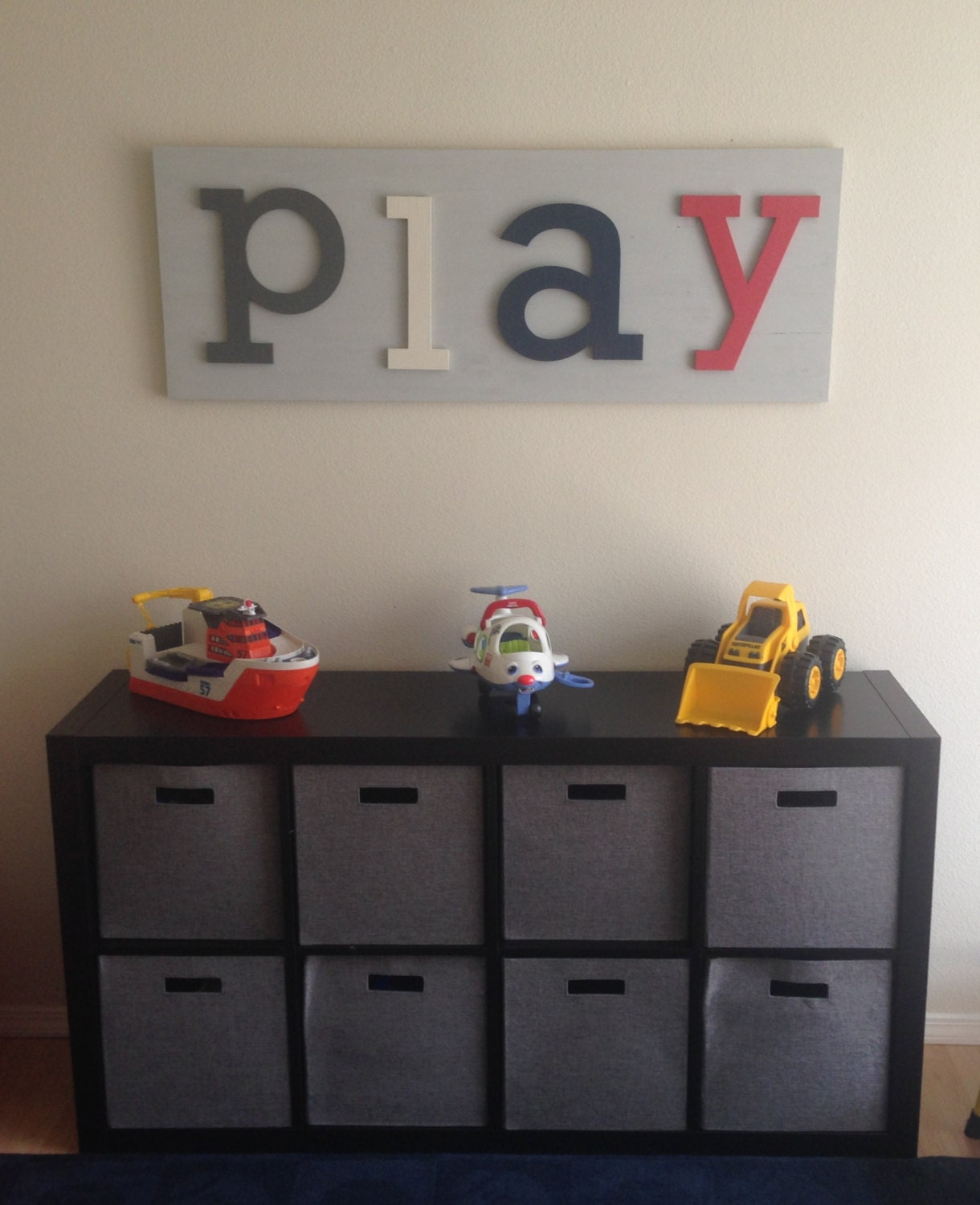 playroom decor playroom sign wall letters kids playroom wall. Black Bedroom Furniture Sets. Home Design Ideas