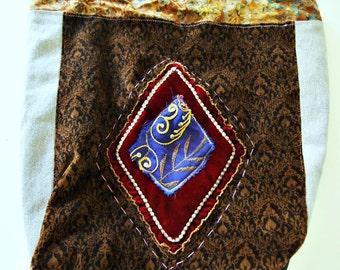 Boho bag gypsy bag Velvet shoulder bag hippie bag vintage handbag upcycled purse