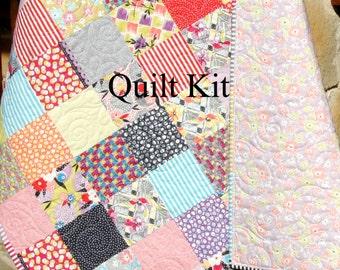 Sale scrappy quilt kit jen kingwell gardenvale moda fabrics sale scrappy baby quilt kit gardenvale by jen kingwell moda fabrics yellow purple blue solutioingenieria Images