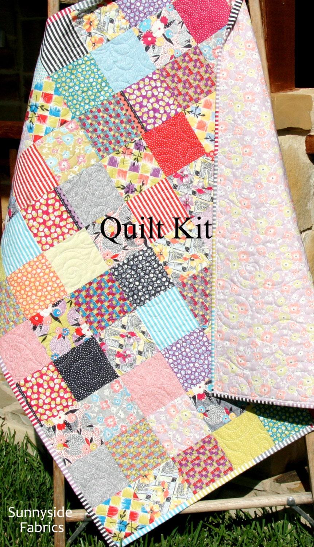 Do it yourself moda ideas de disenos ciboney sale scrappy baby quilt kit gardenvale by jen kingwell do it yourself moda solutioingenieria Images