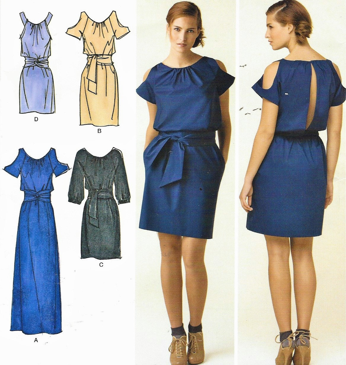 Cynthia Rowley Sewing Patterns: Cynthia Rowley Womens Dress In 3 Lengths With Sleeve