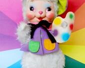 Vintage Rushton Company Artist Rabbit/Bunny stuffed toy