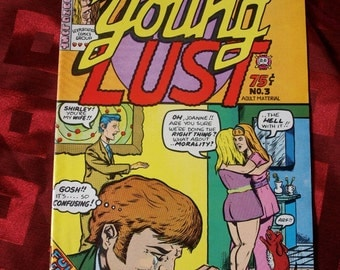 Young Lust No 3 First Printing 1972 Robert Crumb Spain Roger Brand Jay Kinney Nancy Bill Griffith Justin Green Underground Comix Comic ADULT