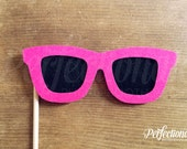 Sunglasses Photo-Booth Prop | Hot Pink Wayfarers | Stiff FELT | Photo-Booth Props