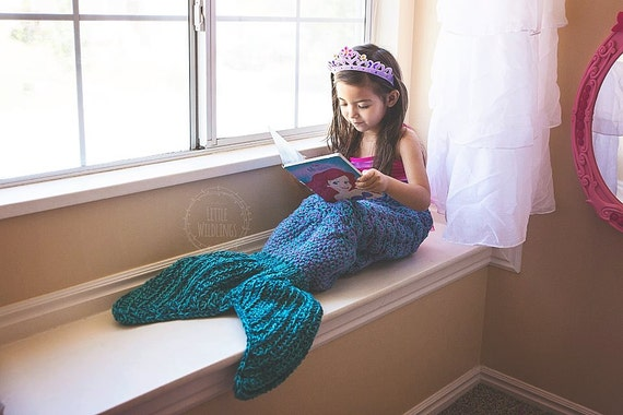 Crochet Patterns Mermaid Tail Blanket : Crochet Pattern for Mermaid Tail Blanket - Toddler to Adult - Welcome ...
