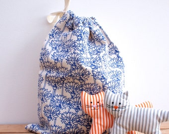 Cornflower Print Drawstring Bag