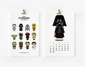 2016 Calendar Star Wars, Christmas Gift, Children Room Decor, New Year Gift 4 x 6 or 5x7