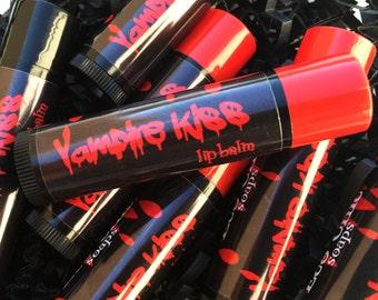 Black or Red VAMPIRE KISS Lip Balm - Vampire Lip Butter - Lip Gloss - Tinted Lip Balm