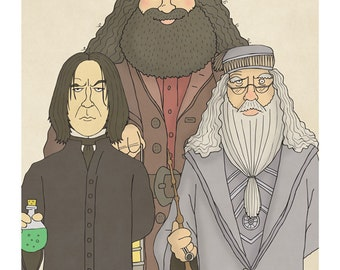 Harry Potter Group - Snape, Dumbledore and Hagrid