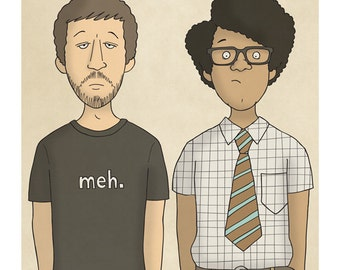 Roy and Moss - IT Crowd - Illustration Print