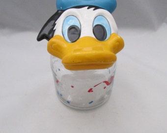 The Walt Disney Company Donald Duck Jar Canister Mid Century Retro