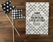 Everlasting Love - Jeremiah 31:3 - Scripture Print