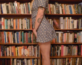 PLAYSUIT PLAYGIRL--Handmade 1930s Reproduction Playsuit Romper with Matching Skirt and Belt--S,M