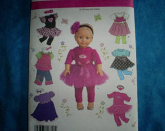 simplicity 1711 for 18 inch doll clothes.