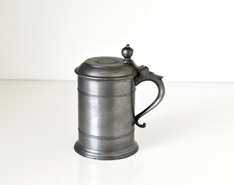 English George V Coin Top Pewter Tankard Stein