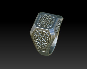 signet ring celtic ring mens rings celtic jewelry celtic ring wedding ring RS1A