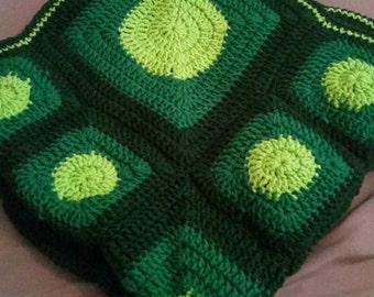 Circles Squares Baby Blanket